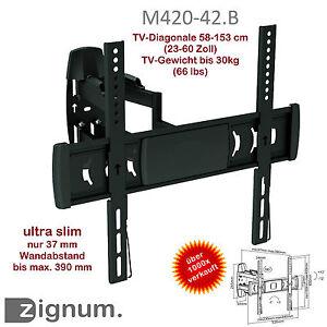Zignum-M420-42-B-TV-Halter-Wandhalter-23-60-Zoll-LED-LCD-VESA-400-x-400-55-50-40
