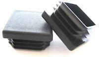 10 - 1 1/4 Square Tubing Plastic Plugs 1-1/4 Inch End Cap 11-20 Ga 1.25 X 11/4