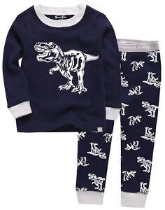 Vaenait-Baby-Toddler-Kids-Clothes-Long-Pajama-Set-034-Hunter-Dino-Navy-034-12M-12Y