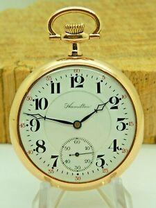 Super Clean Mint Serviced Antique Hamilton Grade 956 Pocket watch 16S 17 jewel