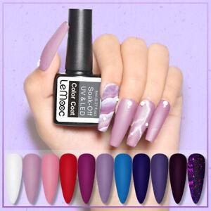 LEMOOC 8ml Gel Nail Polish  Matte Soak Off UV Gel Varnish 60 Winter Color