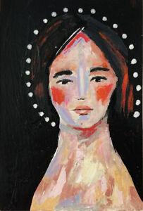 Original-Acrylic-Portrait-Halo-Girl-Painting-Katie-Jeanne-Wood