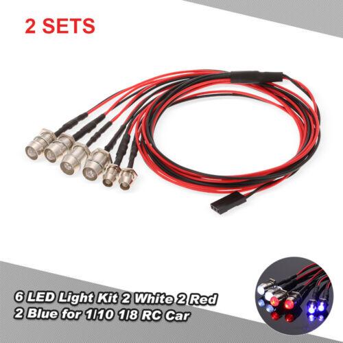 2SET 6 LED Flashing Light Lamp System Kit fr RC 1:10 Car Truck RC Accessory R0B9