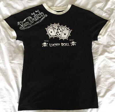 Von Dutch - Black/ White 'Lucky Roll' Dice w/ Stud Mens T-Shirt UK Size Medium M   eBay