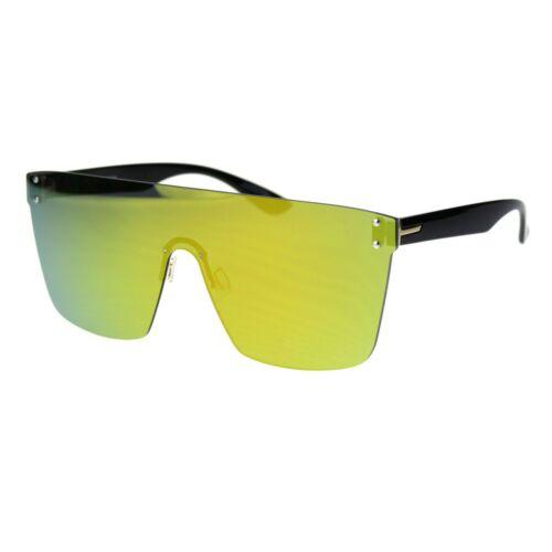 Rimless Square Sunglasses Unisex Oversized Fashion Mirrored Lens UV 400