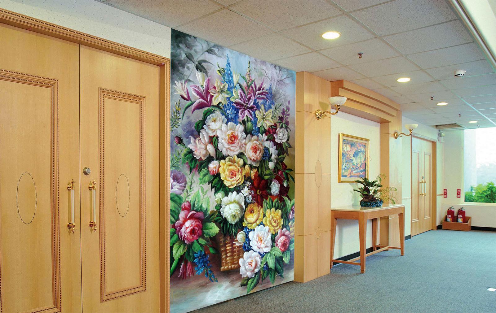 Papel Pintado Mural De Vellón Algunas Flores Hermosas 2 Paisaje Fondo Pansize
