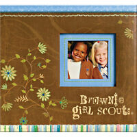 Brownie Girl Scouts Scrapbook Album 12 K&co Emboss Plastic Protector Post Bound