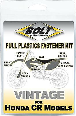 BOLT Full Plastic Fastener Kit for 97-99 Honda CR250