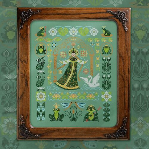 Cross Stitch Kit Russian Fairytale The Frog Princess Embroidery Primitives