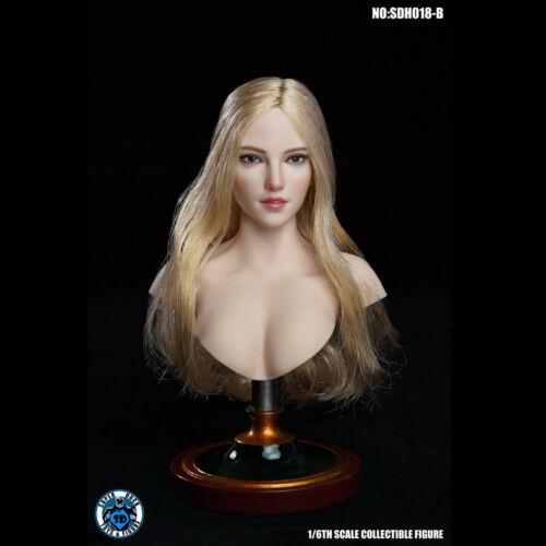 SUPER DUCK SDH018 1//6 Scale Female Head Sculpt Fit For 12 inch Body Brand New B