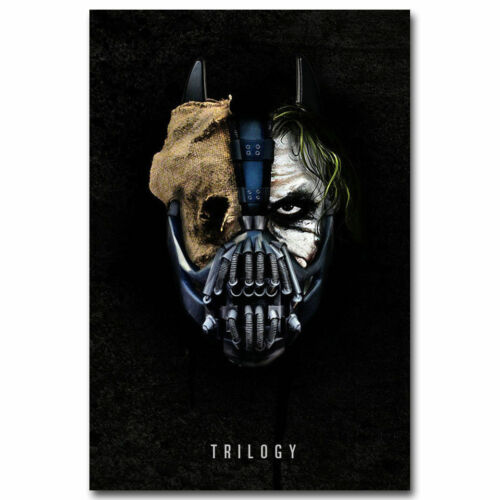 30x20 36x24 Poster Batman The Dark Knight Superhero Movie Joker and Ban T-1013