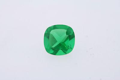 1.14ct Ct Lose Antik Quadratischen Schnitt Grün Apfel Künstlicher Smaragd