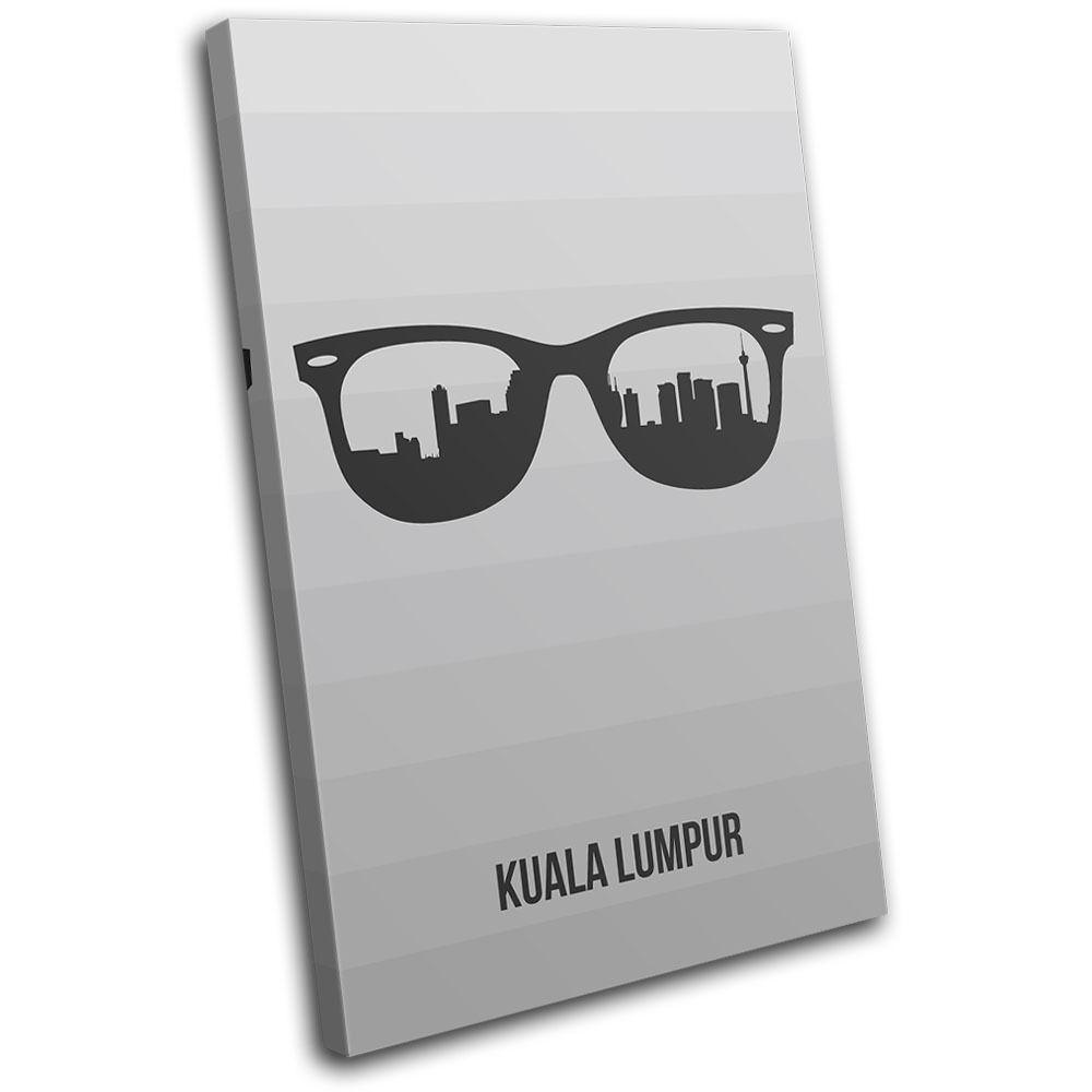 Kuala Lumpur LONA Skyline Sunglass City SINGLE LONA Lumpur pared arte Foto impresion 3238a1