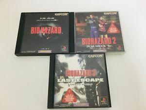 PlayStation-Resident-Evil-Bio-1-2-3-Dual-Shock-Ver-set-PS1-Japan-Game-From-Japan