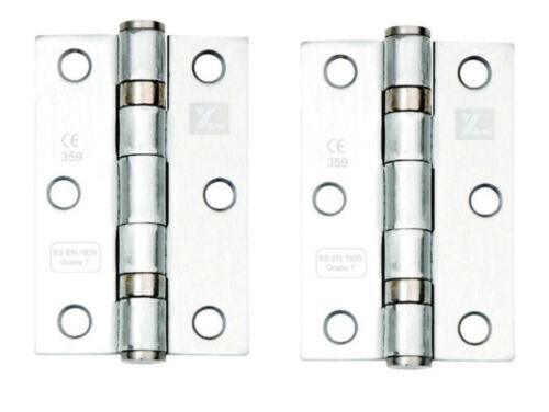 Levier sur carré rose poignée de porte fixe Falco Chrome poli accessoires//charnières