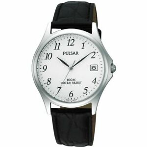 Pulsar-Gents-Leather-Strap-Date-Watch-PXH565X1-NEW