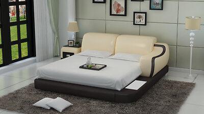 Wasserbett Hotel Doppel Bett Betten Komplett Lederbett Polsterbett Wasser Lb8803
