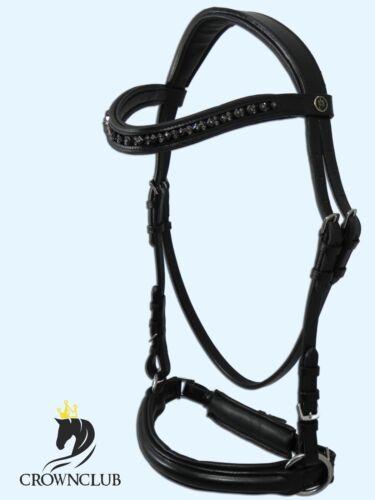 KB Zaum ROYAL DOUBLE BLACK Bitless Bridle Gebisslose Trense Pony WB VB