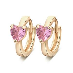 8d583ba86 Image is loading Raibow-CRYSTAL-Gold-Filled-Toddler-Girls-Safety-earings-