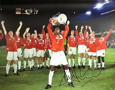 ANDY COLE SIGNED MANCHESTER UNITED 1999 CHAMPIONS LEAGUE 16x12 ...