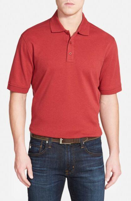 Nordstrom Mens Shop Interlock Polo Shirt Size XXL Short Sleeve Red NEW Tag B6