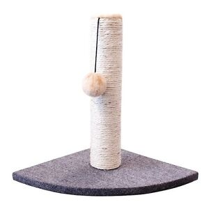 Dishes, Feeders & Fountains Cat Supplies Sisal & Fur Cat Post Scratcher With The Best Service