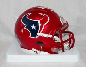 Image is loading Andre-Johnson-Autographed-Houston-Texans-Blaze-Mini-Helmet- 6e7f07275