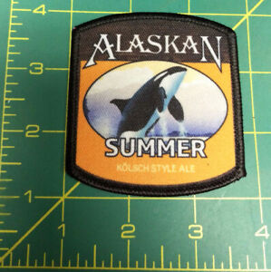 NEW-Alaska-Summer-Ale-beer-Iron-On-printed-style-Patch-Kolsch-Style-Ale-Patch