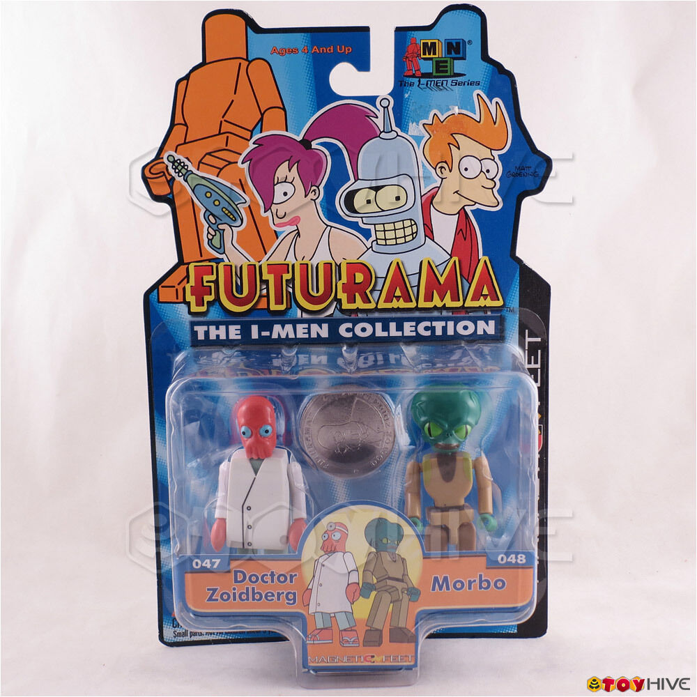 Futurama The I-Men Collection Doctor Zoidberg & Morbo Toynami - worn dented box