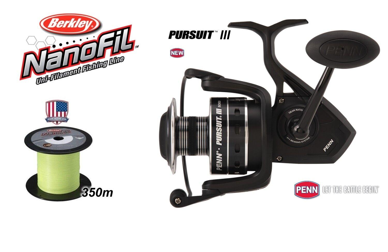 Penn m PURSUIT  III 8000 + Berkley NanoFil 350 m Penn HI-VIS Chartreuse  0,25 mm 17 kg 2c89cf