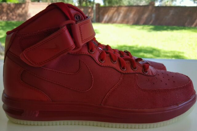 finest selection 1ed48 c4d05 NIKE AIR FORCE 1 ID SIZE 8 RED OCTOBER GLOW IN THE DARK SOLES 808790-995