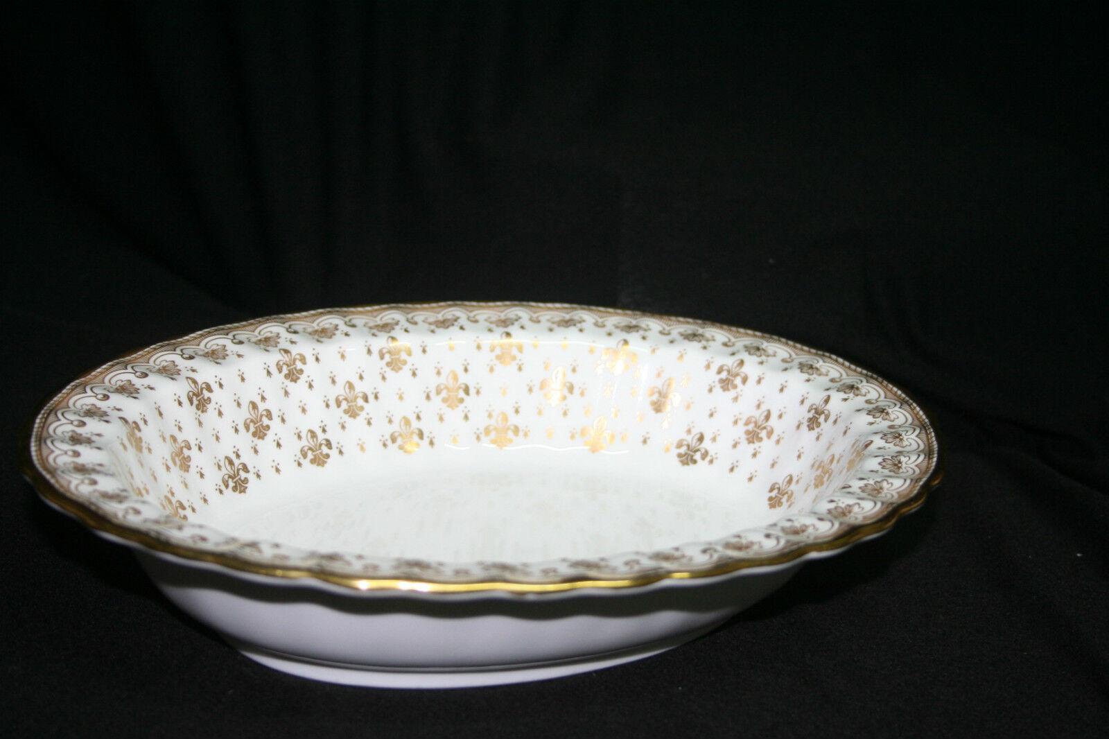 Servierschale oval Spode Fleur de Lys Gold       Clearance Sale  1cc7c9