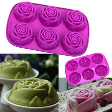 Rose Flower Silicone Baking Mould Cake Bun Cupcake Chocolate Fondant DIY Mold