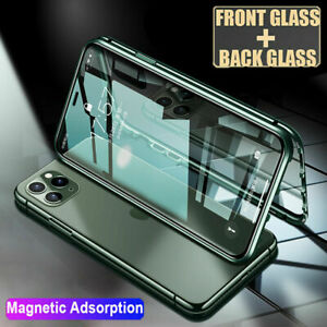 360° Magnetic Full Body Cover Tempered Glass Case For iPhone 12 Mini Pro Max 11
