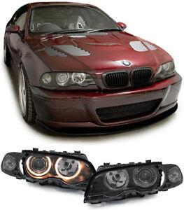 Angel-Eyes-Scheinwerfer-Blinker-schwarz-fuer-BMW-3ER-E46-Coupe-Cabrio-99-03
