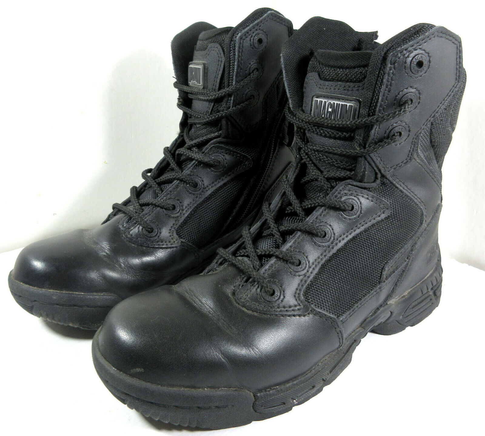 Magnum Stealth 8.0 Force Black Military Combat Police Boots Size Zip Size 5.5