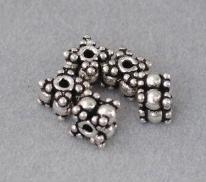 Altsilber DIY Vintage Schmuck Charms Spacer Perlen 925 Silber Zwischenteile