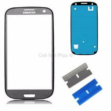 New Replacement Repair Screen Front Glass Outer lens For Samsung Galaxy S3 GREY