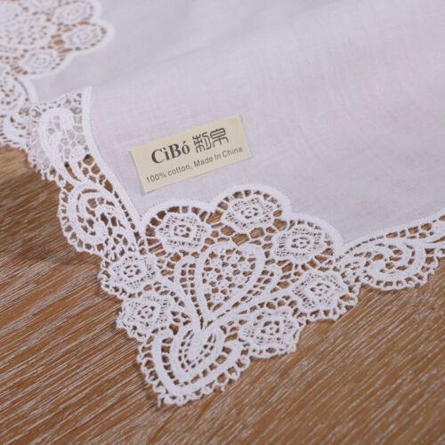 A005 1piece wedding gift White cotton  noserag mocket lace handkerchiefs