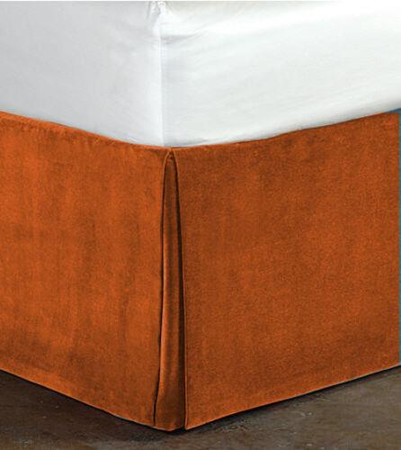 "Fascination Classy100/% Cotton Velvet Bedskirt//Valance 15/""Drop-King Size"