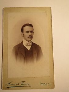 Ybbs-a-D-1903-Alfred-Hillerbrand-geb-am-22-3-1885-als-junger-Mann-CDV
