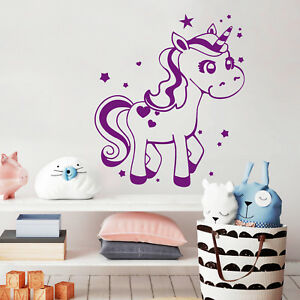 einhorn sterne 10376 unicorn pferd wandtattoo prinzessin. Black Bedroom Furniture Sets. Home Design Ideas