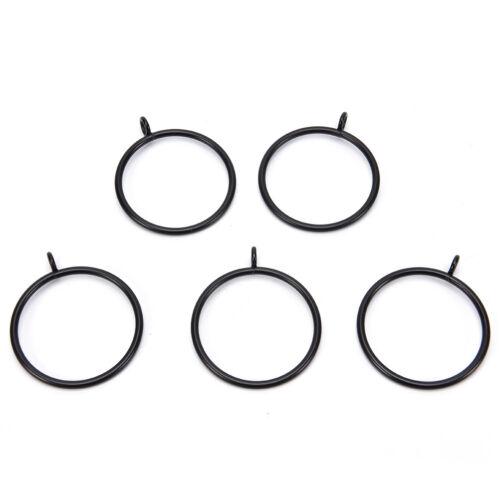 10 stücke schwarz metall vorhang ringe hängen ringe für vorhänge und stangeRSWR