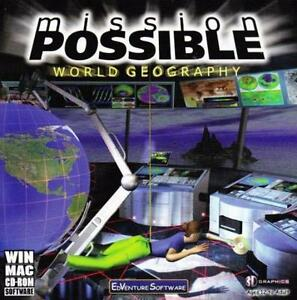 Mission Possible World Geography PC MAC CD Learn Cities Country - Learn world geography