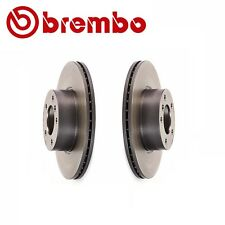 NEW BMW F32 F33 F30 F23 E90 Pair Set of 2 Vented Front Brake Disc Rotors Brembo