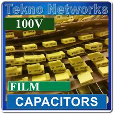 10x Radial Film Capacitors 100v 1000pf 1uf