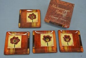 MEDITERRANEAN-FLORALS-KIMBERLY-POLOSON-DECORATIVE-MINI-PLATES-4-5-034-RED