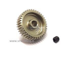 PIGNONE ROCKET 64DP 39T DENTI MODULO 0.4 ALBERO 3.175mm  ALLUMINIO 7075 VRX