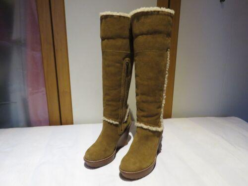 Chestnut Eu 7 Ugg® Aubrie Wedge 265 Rrp Boots Sheepskin 5 Australia Uk 5 Usa £ 38 EzqzAfw