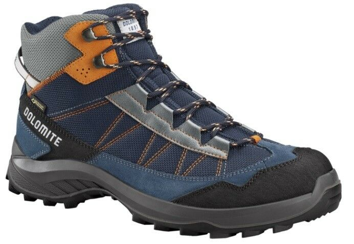 Trekking shoes approach hiking dolomite brez GTX  Night bluee-orange  best reputation